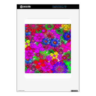 Edgy Beautiful colorful amazing floral pattern des iPad Skin