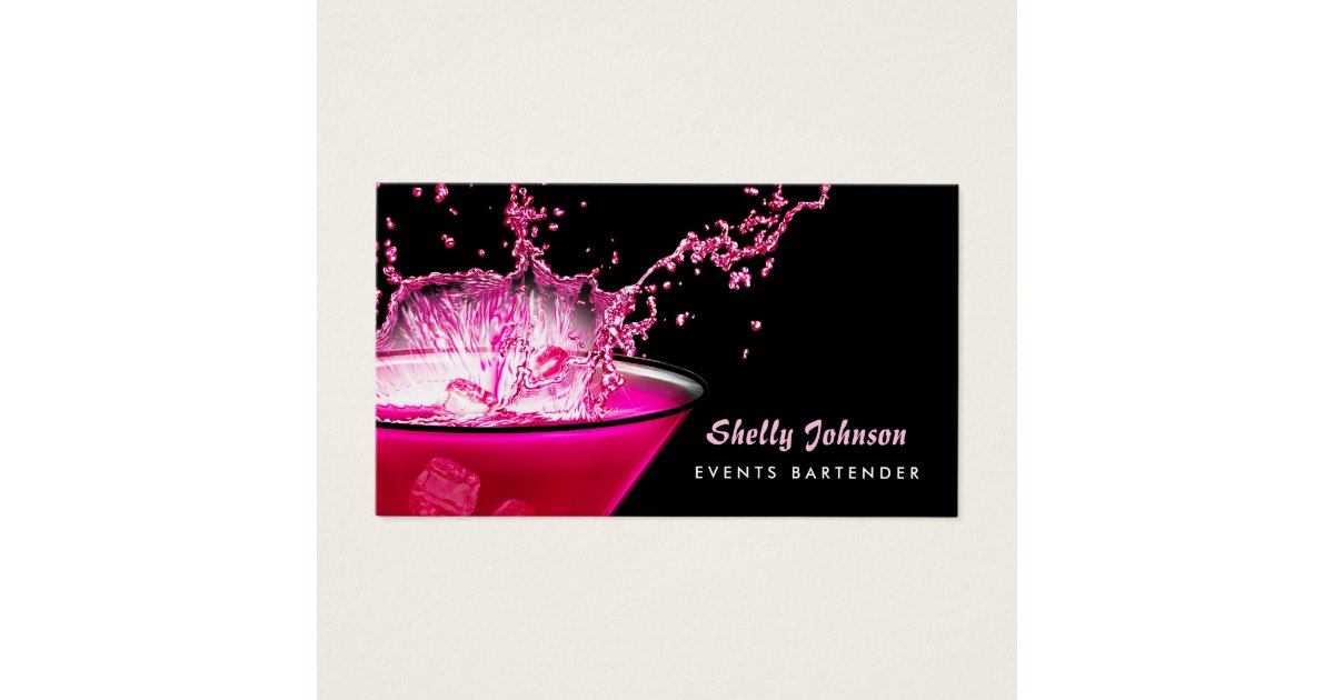 Pink And Black Business Cards & Templates | Zazzle