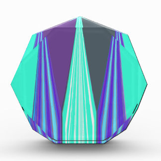 Edgy Blue art Acrylic Award