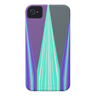 Edgy Blue art iPhone 4 Cover