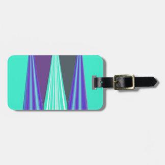 Edgy Blue art Travel Bag Tags