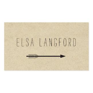 Edgy Bohemian Arrow with Handwritten Text Business Card
