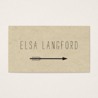 Edgy Bohemian Arrow with Handwritten Text Business Card