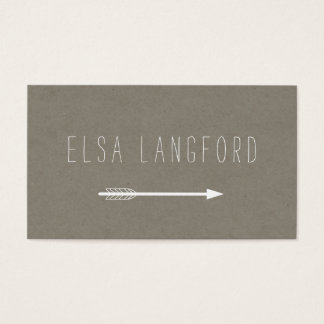 Edgy Bohemian Arrow with Handwritten Text II Business Card