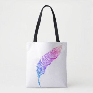 Edgy & Chic Intricate Lace Feather illustration Tote Bag