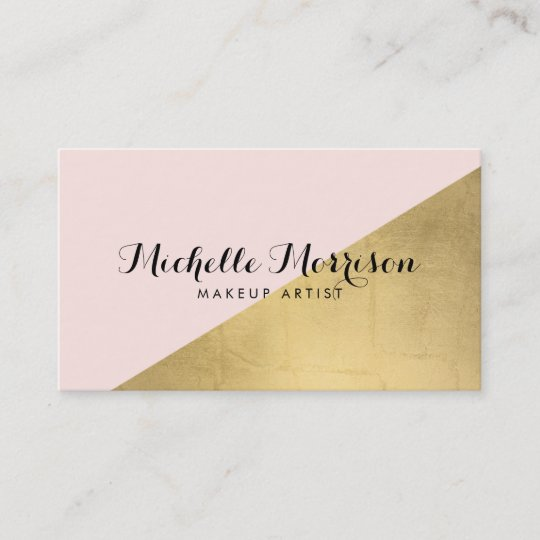 Edgy geometric faux gold foil and pink color block business card edgy geometric faux gold foil and pink color block business card colourmoves