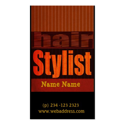 Edgy modern typography salons hair stylist business card for Edgy business cards