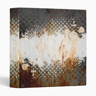 Edgy Urban Rust with Paint Splatter Layout Binder