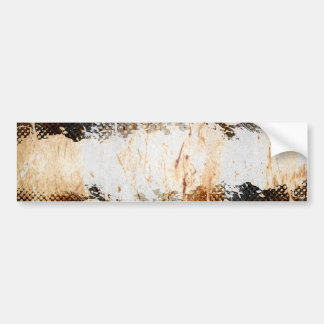 Edgy Urban Rust with Paint Splatter Layout Bumper Sticker