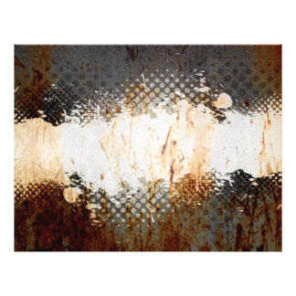 Edgy Urban Rust with Paint Splatter Layout Flyer
