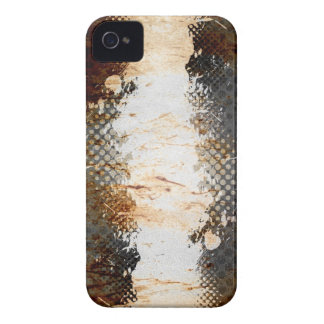 Edgy Urban Rust with Paint Splatter Layout iPhone 4 Case