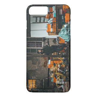 Edgy young man stands outside factory iPhone 8 plus/7 plus case