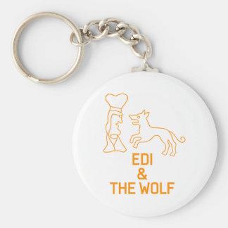 EDI & THE WOLF BASIC ROUND BUTTON KEYCHAIN