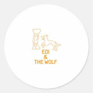 EDI & THE WOLF CLASSIC ROUND STICKER