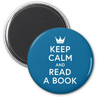 Ediatble Color Bookish Keep Calm and Read a Book Magnet