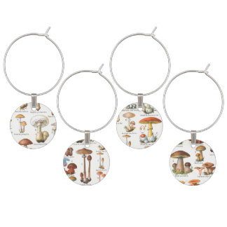 Edible and Poisonous Mushrooms Wine Charm