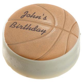 Edible Birthday Basketball Chocolate Icing Chocolate Dipped Oreo