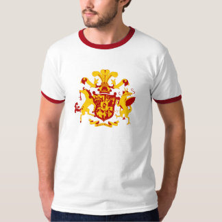 Edible Castle Coat of Arms Ringer T T-Shirt