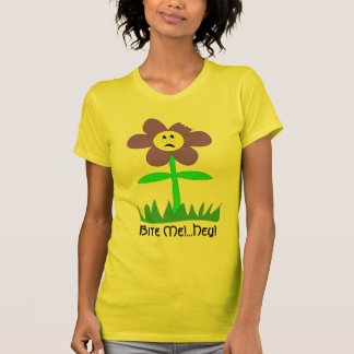 """Edible Flower Suprised By """"Bite Me!"""" T-Shirt"""