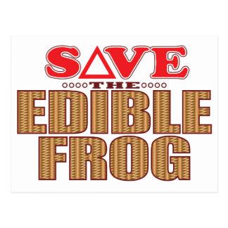 Edible Frog Save Postcard