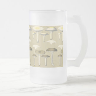 Edible Fungi in New York Frosted Glass Beer Mug