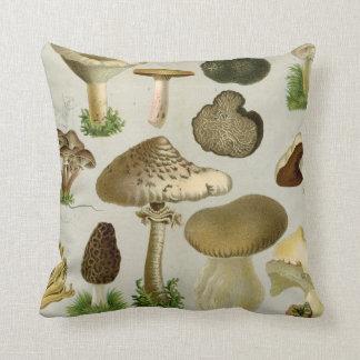 Edible Fungi - Mushrooms and Toadstools Throw Pillow