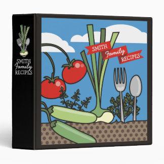 edible garden personal cookbook recipe binder