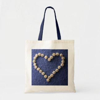 Edible heart budget tote bag