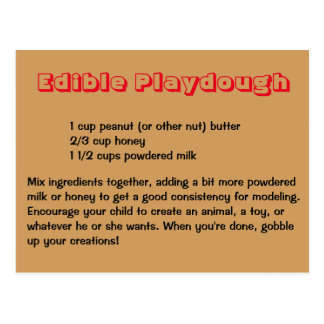 Edible Playdough Postcard
