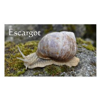 Edible snail farm escargot business card