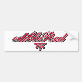 edibleRed-Logo-Inline-Transparent-Bg Bumper Sticker