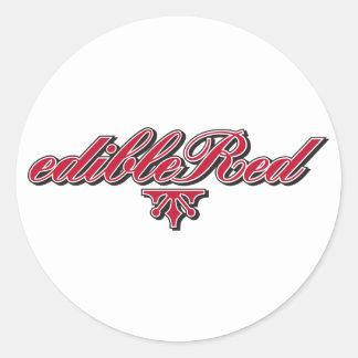 edibleRed-Logo-Inline-Transparent-Bg Classic Round Sticker