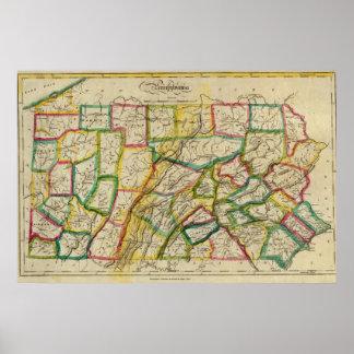 Edición 1818 de Pennsylvania Póster