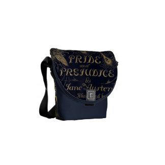 Edición antigua del pavo real del orgullo y del pe bolsas de mensajería
