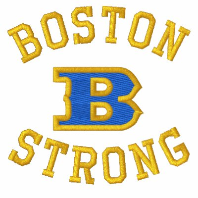 Edición bordada fuerte de la cinta de Boston B Polo Bordado