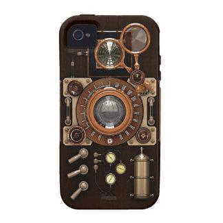 Edición de la oscuridad de la cámara del vintage vibe iPhone 4 fundas