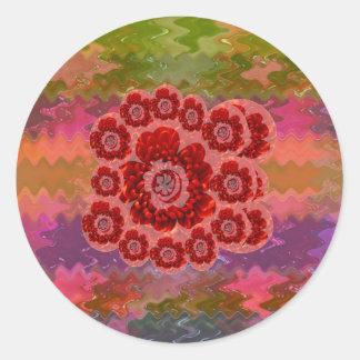 Edición de los colectores - color de rosa rosado r etiqueta redonda