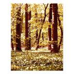Edición de oro del bosque de la primavera membrete personalizado
