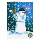 Edición del aniversario de la bola de la nieve de  felicitacion