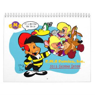 Edición del calendario de los tebeos 2015 de C.M.S
