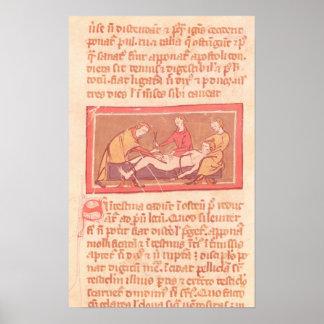 """edición del """"libro de la cirugía"""" por Rogier de Sa Poster"""