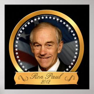 Edición del oro de Ron Paul en 2012 Poster