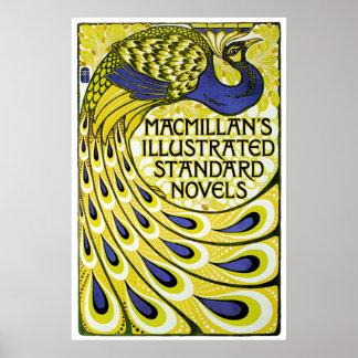 Edición del pavo real, Illustraded de MacMillan Poster
