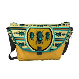 Edición egipcia de oro del escarabajo del desierto bolsas de mensajería