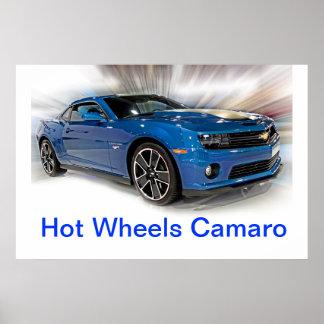 Edición especial de las ruedas calientes de Camaro Póster