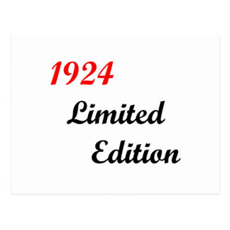 Edición limitada 1924 tarjetas postales