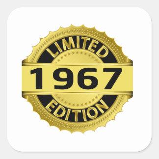 Edición limitada 1967 pegatina cuadradas personalizada