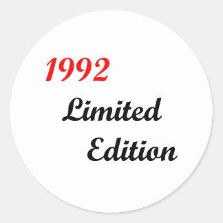 Edición limitada 1992 pegatina redonda