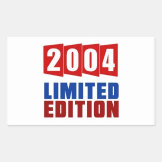Edición limitada 2004 pegatina rectangular