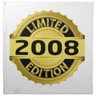 Edición limitada 2008 servilletas imprimidas